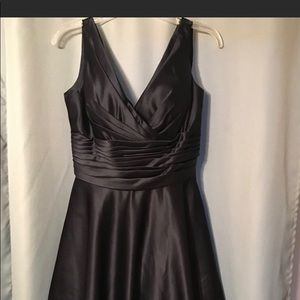 Navy Satin Bill Levkoff Dress size 14